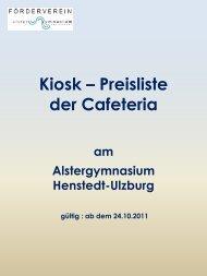 incl. 0.25€ Pfand - Alstergymnasium Henstedt-Ulzburg