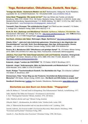 Yoga, Reinkarnation, Okkultismus, Esoterik, New Age,