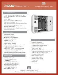 UNIClad spec sheet - Virginia Transformer Corp
