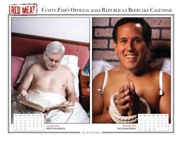 Vanity Fair's Official 2012 Republican beefcake calendar