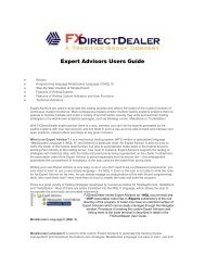 Expert Advisors Users Guide - Free MetaTrader 4 Files - Expert ...
