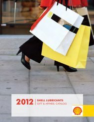 2012 Shell LubricantS