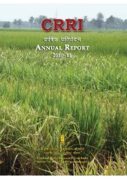 Central Rice Research Institute Annual report...2010-11