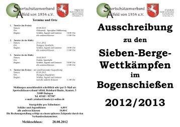 Ausschreibung RWK 2012-2013 Bogen - SSV Alfeld