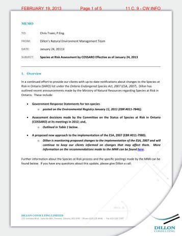 FEBRUARY 19, 2013 Page 1 of 5 11 C. 9 - CW INFO