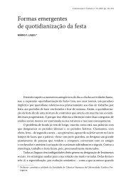Formas emergentes de quotidianização da festa - Revista ...