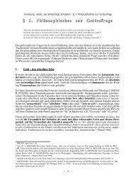 § 1. Philosophisches zur Gottesfrage - Theologie-Skripten