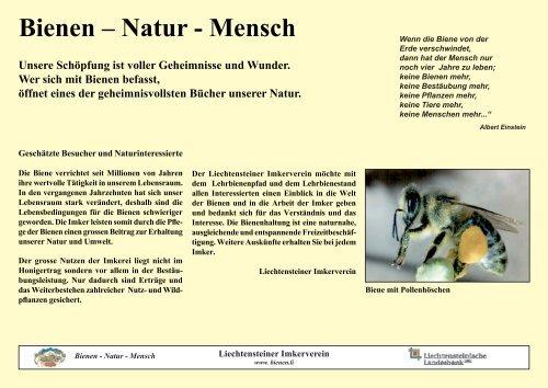 Lehrtafeln - Liechtensteiner Imkerverein
