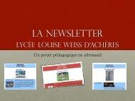 La Newsletter - Site allemand de l'académie de Versailles