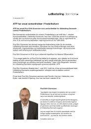 ATP har ansat centerdirektør i Frederikshavn
