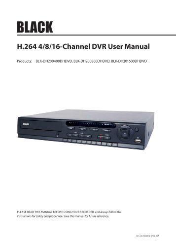 Concept Pro h 264 dvr manual