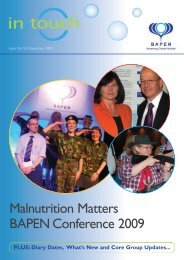 BAPEN intouch_2009 - Focus on Undernutrition