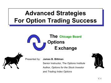 Advanced options trading strategies