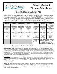 Family Swim & Fitness Schedules - Bend Parks and Rec