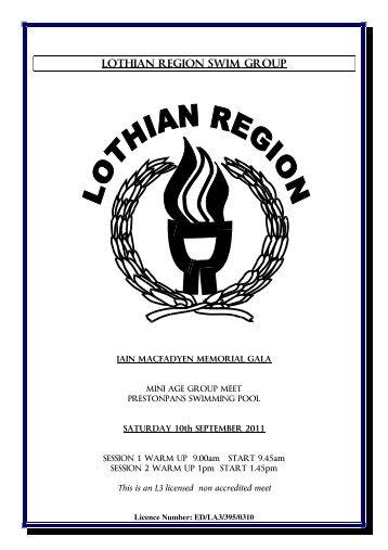 LOTHIAN REGION SWIM GROUP - Swim Scotland