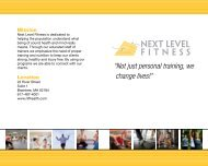 To Download Our Brochure - Next Level Fitness
