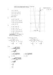 MPM2D1 EXAM REVIEW UNIT 1 SOLUTIONS pdf