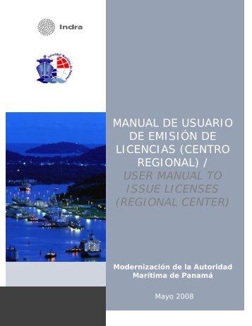 manual de usuario de emisión de licencias (centro regional)