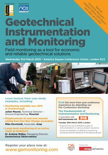 Geotechnical Instrumentation and Monitoring - Profound BV
