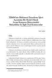 TBMM'nin Hükümeti Denetleme İşlevi Açısından ... - Yasama Derneği