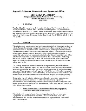 Sample Memorandum Of Agreement Format Of Agreement Between Two