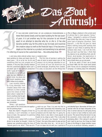 Das Boot Airbrush! - Createx Colors
