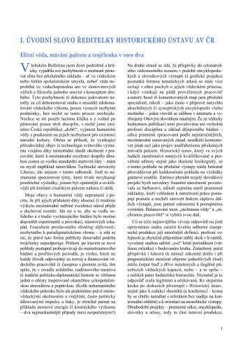 i. úvodní slovo ředitelky historického ústavu av čr - Historický ústav ...