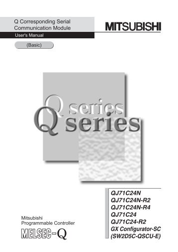 Q Corresponding Serial Communication Module User's Manual (Basic)
