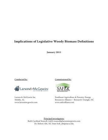 Implications of Legislative Woody Biomass Definitions - Mississippi ...