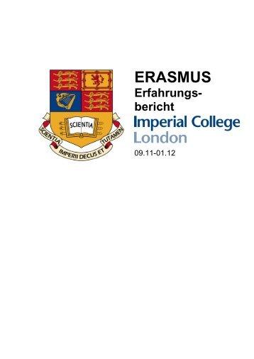 Erfahrungsbericht 2012 - Erasmus