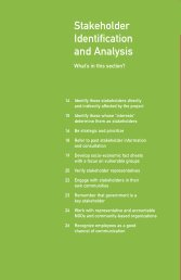 Stakeholder Identification and Analysis - IFC