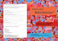 "Wämöskolan"" - Karlskrona kommun"