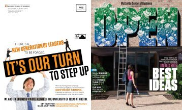Download a PDF version of this issue - McCombs TODAY - The ...