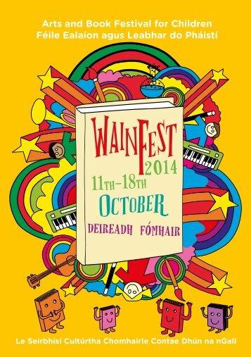 Wainfest 2014 Programme