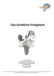 Das Künstliche Kniegelenk printversion 1 - orthozentrum.ch