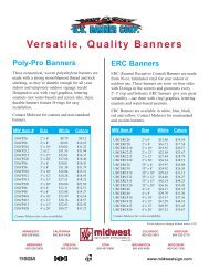 US Banner 6-05 - Midwest Sign & Screen Printing Supply