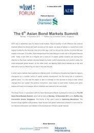 The 6 Asian Bond Markets Summit - The Asset