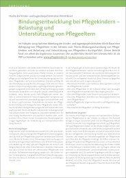 Bindungsentwicklung - Pflegekinder-Aktion Schweiz