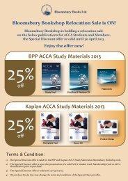BPP ACCA Study Materials 2013 Kaplan ACCA Study Materials 2013