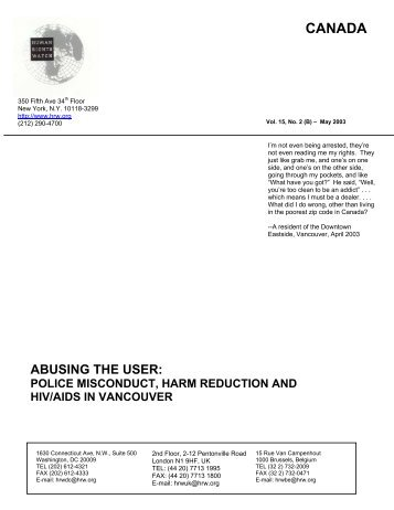 Abusing the User - Drug Policy Alliance