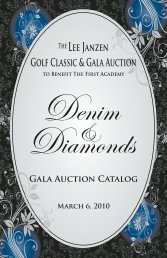 Golf Classic & Gala Auction - The First Academy