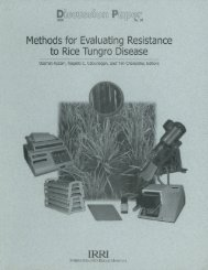 Methods for Evaluating Resistance to Rice Tungro ... - IRRI books