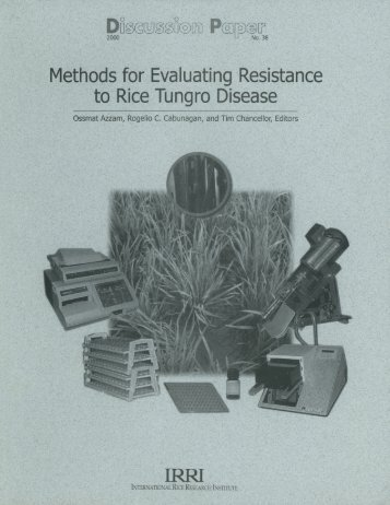 Methods for Evaluating Resistance to Rice Tungro ... - IRRI books