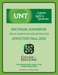 Curriculum and Instruction Doctoral Handbook - College of ...