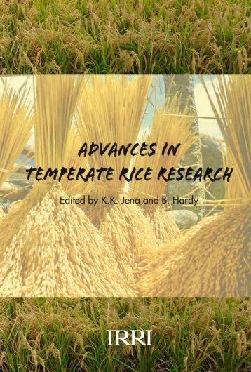 Advances in Temperate Rice Research - IRRI books - International ...