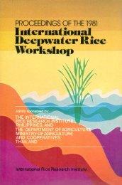 the deepwater rice varietal improvement program in ... - IRRI books