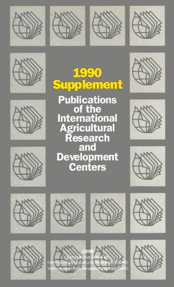 1990 Supplement Publications of the International ... - IRRI books