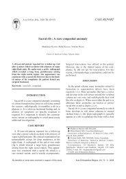 Sacral rib : A rare congenital anomaly CASE REPORT - ResearchGate