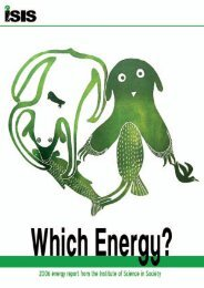 Which Energy? - The Institute of Science In Society