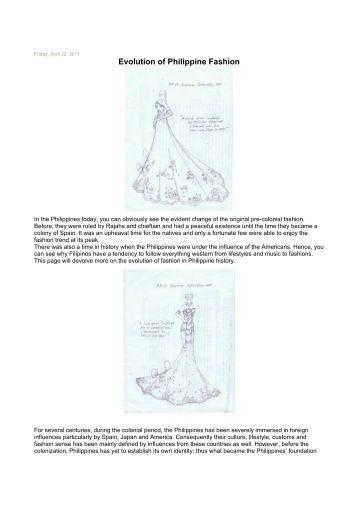 History of Philippine Fashion Essay